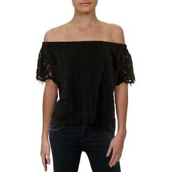 Generation Love Womens Carly Lace Black Lace Casual Top S BHFO 3411 $15.99