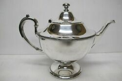 Antique Vintage Silver Plate Pairpoint Sheffield Teapot / Genie Lamp Style0307