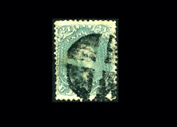 Us Stamp Used, F/vf S70b Steel Blue Color With Period Fancy Cancel