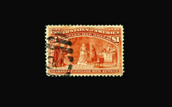 Us Stamp Used, Xf S241 Typical Cancel On Left Side, Right Side Free Of Cancel