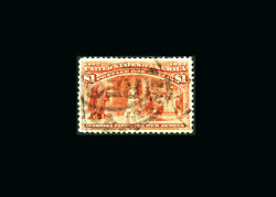 Us Stamp Used, Xf S241 Registered Cancel, Nice Sized Margins