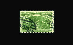 Us Stamp Used Vf S243 Good Color With A Registered Cancel