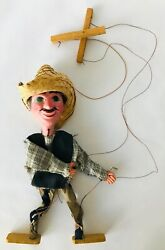 Mexican Man Marionette String Puppet Vintage Made In Mexico Southwest Decor