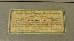 Sonoma County Clearing House Certificate California Panic Script Currency 1907