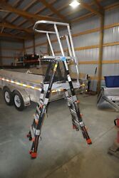 Little Giant 19504 Compact Safety Cage Platform Ladder Type Iaa Osha Standard