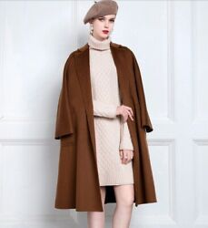 Custom Made To Order Casual Oversized Overcoat Wrap Bleted Coat Plus 1x-10x Y365
