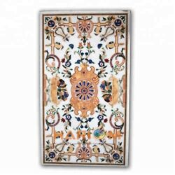 5and039x3and039 Pietradura Marble Dining Table Handicraft Top Kitchen Inlay Art Decor W324