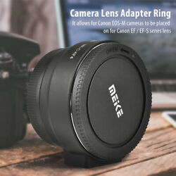 Meike Auto Focus Lens Adapter Ring For Canon Ef / Ef-s Lens To For Canon Eos-m