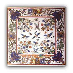 42and039and039 Birds With Scagliola Marble Dining Table Top Interior Inlay Arts Decor W327