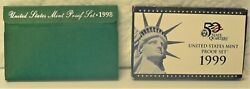 Coins - Us Mint Proof Sets 1998 And 1999 With State Quarters