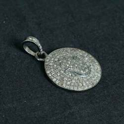 925 Sterling Silver Hamsa Hand Pendant Pave Diamond Jewelry Gift Her St
