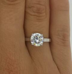 1.5 Ct Classic 4 Prong Round Cut Diamond Engagement Ring Si1 D White Gold 18k