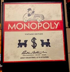 Monopoly Vintage Edition From Restoration Hardware Wooden Game Board - Rare