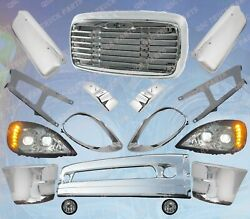 Qsc Chrome Bumper Grill Full Led Headlight Mirror Cover Set For For Columbia