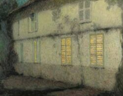 Henri Le Sidaner The Completed Shutters Gerberoy Canvas Print 16 X 20   4115