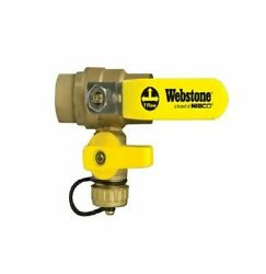 Webstone 50616 Pro-pal Series 1-1/2 C X C Ball Valve With Drain Outlet