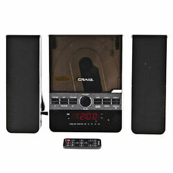 Craig CM427 3 Piece Vertical CD Stereo Shelf System with AM FM and Remote