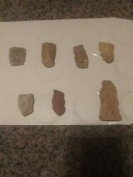 Lot Authentic Indian Arrowheads Artifacts Broken Knives Tools Spears