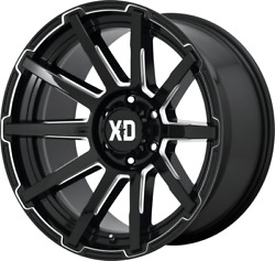 20x10 Gloss Black Xd847 Outbreak 1999-2021 Lifted Ford F250 F350 8x170 -18mm