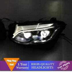 Brand New For Benz Glc Oem Headlight Double Lens Beam Projector Led Drl 16-19