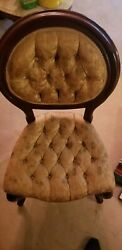 Vintage Mahogany Dining Room Table With 6 Upholstered Chairs With Matching Couch