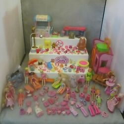 Over 150 Polly Pocket Dolls, Furniture, Cloths, Accessories, Fashion Studio+more