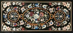 4'x2' Marble Dinner Table Top Multi Floral Art Marquetry Inlay Garden Decor B294