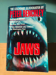 Jaws Peter Benchley Jaws Paperback Book Roy Scheider Rare Edition Signed Uacc