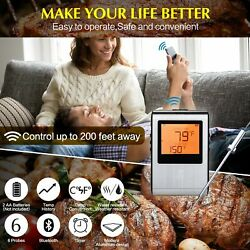 Wireless Meat Thermometer Prefect For Bbq Grill Smoker Kitchen Or Oven. Hi