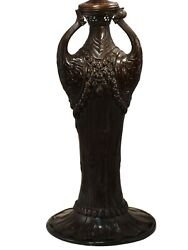 295r - Dale - Bronze Table Lamp Base With Antique Verde Finish - 20h