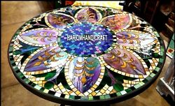 Marble Table Dining Top Gemstone Marquetry Mosaic Furniture Inlay Decorate H3811