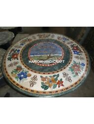 Dining Top Marble Kitchen Table Beautiful Interior Art Rare Inlay Decorate H4920