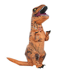 T-REX Dinosaur Inflatable Costume Suit Outfit wBatteries Fans For Kids Cosplay