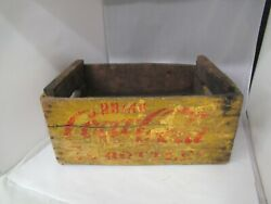Vintage 1800and039s Wooden Coca Cola Crate 687-p