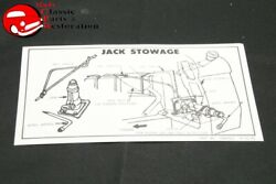 58-59 Impala 55-59 Gmc/chevy Truck Jack Stowage Decal Gm Part 1060053
