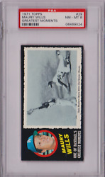 1971 Topps Greatest Moments Maury Wills 29 Psa 8 P964