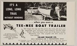 1960 Print Ad Tee-nee Boat Trailers First Choice Youngstownohio