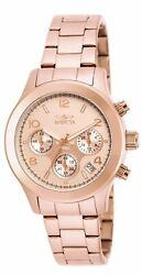 19218 Ladyand039s Chrono Rose Gold Dial Rose Gold Steel Watch