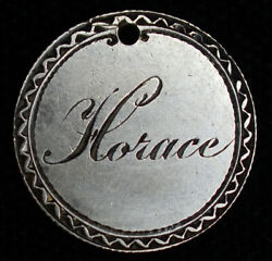 Love Token Engraved Horace On Canadian Dime 10c