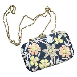 Anthropologie Audra Embroidered Wildflower Clutch Bag Floral Purse