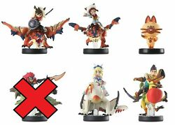 Monster Hunter Amiibo Stories Set Of 5 Game Nintendo 3ds Wii U Tested Toy Figure