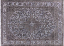 7and039 10 X 11and039 2 Overdyed Hand Knotted Wool Rug - Q4411