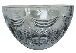 2005 Waterford Cut Crystal Prentiss Bowl Candy Compote Discontinued 10