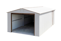 Duramax 54931 Metal Garage  6' Metal Storage Shed Extension - Off White with ...