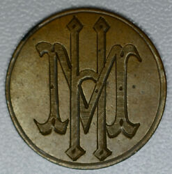 Love Token Engraved Mh Fancy On 1865 Indian Head Penny Cent 1c