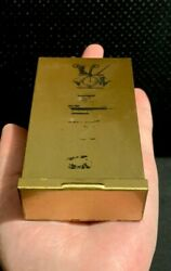 Very Rare Antique Marshall Fields Gold Color Tin Cigarette Case
