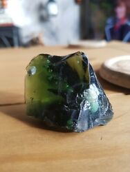 Imperial Jade Gemstone Translucent Green With White Crystal. Heavenly Stone