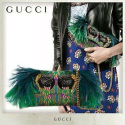 Gucci Clutch bag Feather decorative parrot (MP6523 $5,877.81