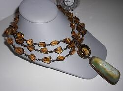 EXTREME HUGE STEPHEN DWECK ONE OF A KIND JADE 1995 RUNWAY NECKLACE OVER 8K