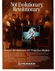 1986 Pioneer 40 Inch Projection Monitor Television Revolutionary TV Print Ad